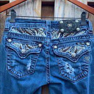 Miss Me Signature Skinny Embellished bling pockets